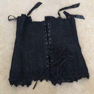 NWOT Fredericks of Hollywood black corset